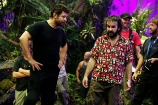 Andy Serkis e Peter Jackson sul set di King Kong