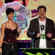 BrendanFraser e Rihanna ai Kids Choice Awards 2008
