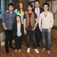Una foto promozionale del cast della serie JONAS