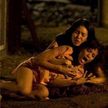 una scena drammatica del film Chants Of Lotus di Nia Di Nata