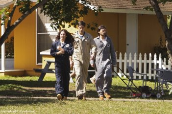 Matthew Fox, Evangeline Lilly e Jeremy Davies in una scena dell'episodio The Variable di Lost