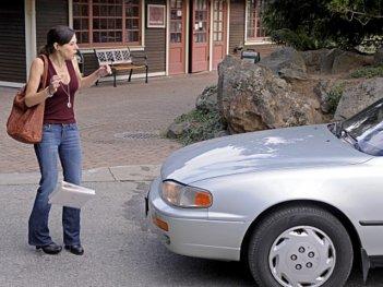 Elaine Cassidy in una scena dell'episodio Crackle della serie Harper's Island
