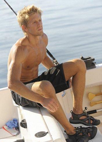 Matt Barr in una scena dell'episodio Crackle della serie Harper's Island