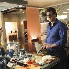 Nathan Fillion e Molly C. Quinn in una scena dell'episodio Hell Hath No Fury della serie Castle