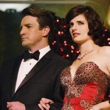 Stana Katic e Nathan Fillion nell'episodio Home Is Where the Heart Stops di Castle