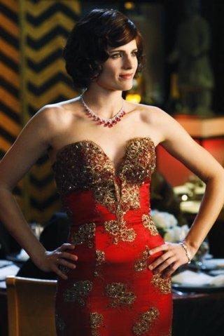 Stana Katic in una scena dell'episodio Home Is Where the Heart Stops di Castle