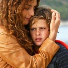 Gioia Spaziani e Brando Pacitto nella fiction Al di là del lago