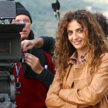 Gioia Spaziani sul set della fiction Al di là del lago