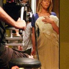 Alessia Marcuzzi sul set del film tv Un amore di Strega