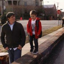 Paul Johannson e Jackson Brundage in una scena dell'episodio Screenwriter's Blues di One Tree Hill