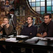 Austin Nichols, James Van Der Beek e Chad Michael Murray in una scena dell'episodio Screenwriter's Blues di One Tree Hill