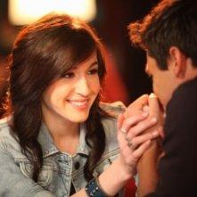 Kate Voegele in una scena dell'episodio A Kiss To Build A Dream On di One Tree Hill