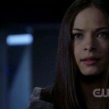 Kristin Kreuk in una scena dell'episodio 'Traveler' della serie tv Smallville