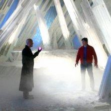 Michael Rosenbaum  e Tom Welling si affrontano nella Fortezza della Solitudine nell'episodio 'Arctic' della serie tv Smallville