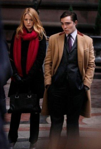 Blake Lively ed Ed Westwick in una scena dell'episodio The Wrath of Con di Gossip Girl