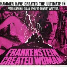 Lobbycard promozionale de La maledizione di Frankenstein