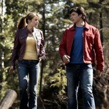 Lois e Clark nell'episodio La ragazza di Krypton di Smallville