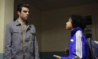 Zachary Quinto e Noah Gray-Cabey in una scena di I Am Sylar della terza stagione di Heroes