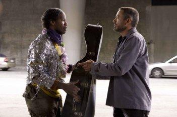 Jamie Foxx e Robert Downey Jr. in un'immagine del film The Soloist
