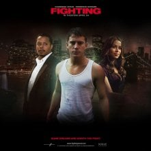 Un wallpaper del film Fighting con Terrence Howard, Channing Tatum e Zulay Henao