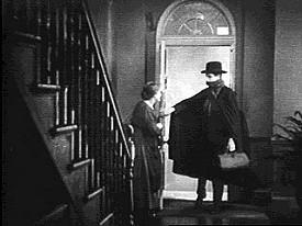 Ivor Novello in una celebre scena de Il pensionante
