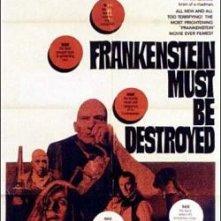 Locandina inglese del film Distruggete Frankenstein