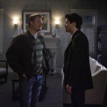 Aaron Pearl e Misha Collins in una scena dell'episodio The Rapture di Supernatural