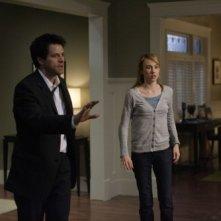 Misha Collins e Wynn Everett in una scena dell'episodio The Rapture di Supernatural