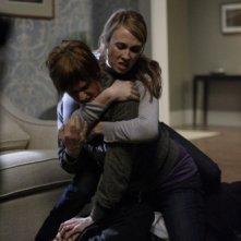 Misha Collins, Linnea Sharples e Wynn Everett in una scena dell'episodio The Rapture di Supernatural