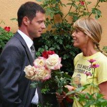 Pietro Sermonti ed Alessia Marcuzzi in una scena del film TV Un amore di strega