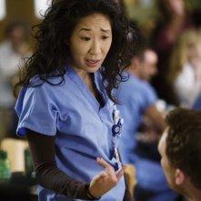 Sandra Oh in una scena dell'episodio Beat Your Heart Out di Grey's Anatomy