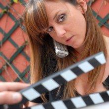 Caterina Guzzanti sul set dell'episodio 'Gaymers' di Feisbum - Il film