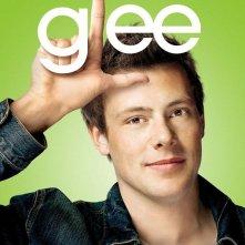 Character poster di Glee sul personaggio interpretato da Cory Monteith