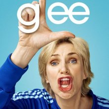 Character poster di Glee sul personaggio interpretato da Jane Lynch