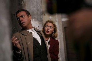 Massimo Ghini e Vittoria Belvedere in una scena della miniserie di Rai fiction su Enrico Mattei