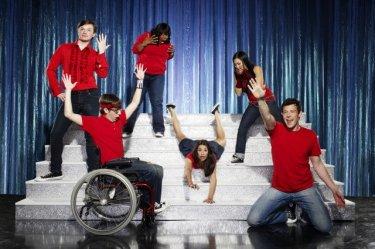 Una foto promozionale del cast della serie Glee