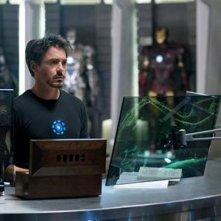 Prima foto di Robert Downey Jr in iron Man 2