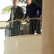 Dominic Purcell e Wentworth Miller in una scena dell'episodio S.O.B. di Prison Break