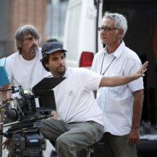 Il regista Eros Puglielli sul set del tv movie So che ritornerai