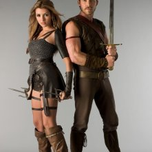 India de Beaufort e Sean Maguire in una immagine promozionale della serie Kröd Mändoon and the Flaming Sword of Fire