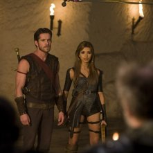 India de Beaufort e Sean Maguire in una scena della serie Kröd Mändoon and the Flaming Sword of Fire