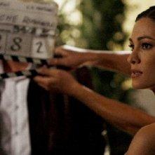 Manuela Arcuri sul set del film tv So che ritornerai