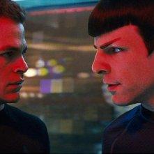 Chris Pine e Zachary Quinto in una scena del film Star Trek