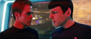 Chris Pine e Zachary Quinto in una scena del film Star Trek