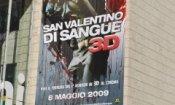 Pioggia di sangue a Roma per il San Valentino in 3D