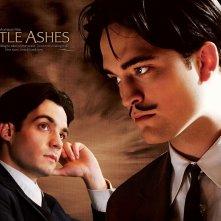 Un wallpaper del film Little Ashes con Javier Beltrán e Robert Pattinson