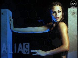 Wallpaper: immagine pubblicitaria della ABC per la serie 'Alias' con Jennifer Garner
