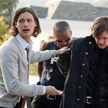 Matthew Gray Gubler, Shemar Moore e Cody Kasch in un momento dell'episodio 'Memoria da Elefante' della serie tv Criminal Minds