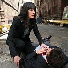 Paget Brewster assiste un collega ferito interpretato da Erik Palladino nell'episodio 'Bassa intensità', finale della terza stagione di Criminal Minds