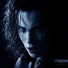 Un wallpaper di Kate Beckinsale che interpreta Selene in 'Underworld: Evolution'